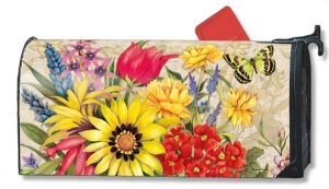 Butterfly Bouquet Floral Mailbox Cover