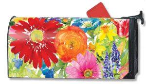 Pop Art Bouquet Floral Mailbox Cover