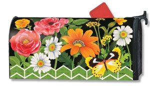 Floral Folk Art Mailbox Cover