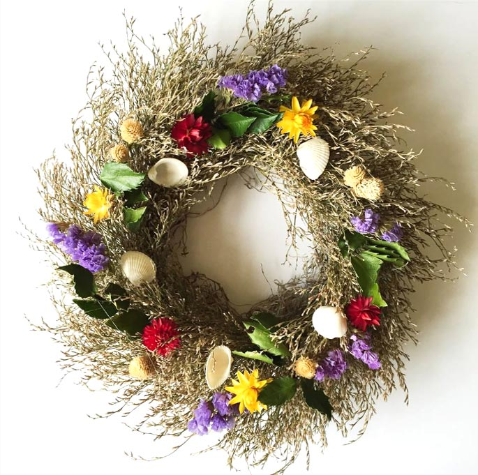 Sea Lavender Wreath Multi Color Maine Wreath Amp Flower