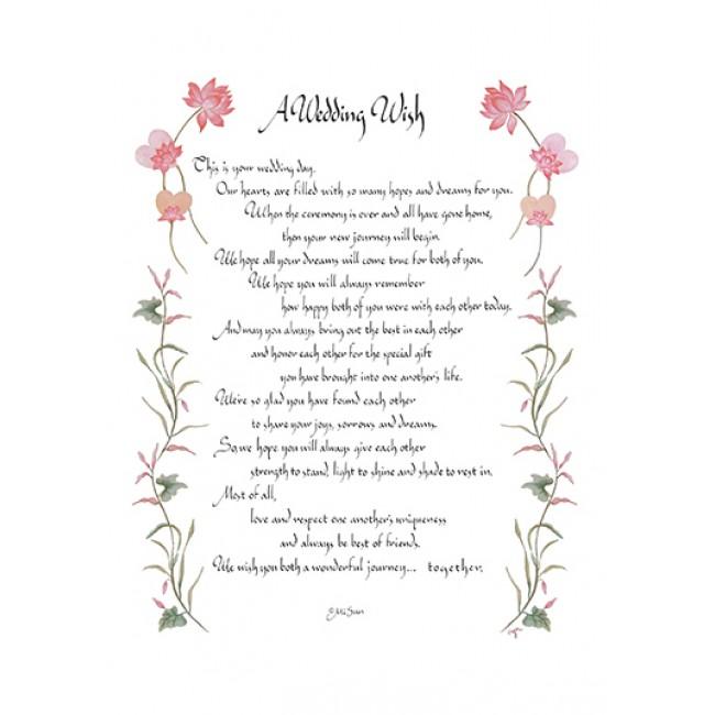 """""""a wedding wish"""" greeting card  maine wreath  flower"""