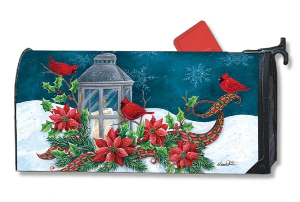 Christmas Mailbox.Cardinal Christmas Mailbox Cover