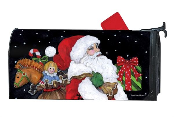 believe in santa mailbox cover